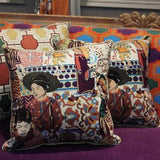 Asian Ethnic Costume Colorful Beige Pillow 18