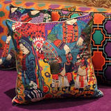 Asian Ethnic Costume Colorful Pillow 18