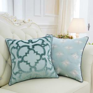 "Green Moroccan Floral Pillow 20""X20"" - G Home Collection"