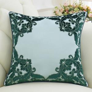 "Green Detailed Floral Pillow 20""X20"" - G Home Collection"