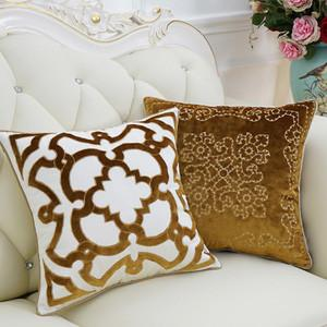 "Yellow Moroccan Floral Pillow 20""X20"" - G Home Collection"