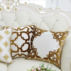 "Yellow Detailed Floral Pillow 20""X20"" - G Home Collection"