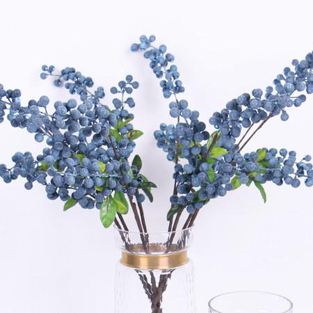 "Artificial Blueberry Stem 26"" Tall - Gentille Home Collection - 1"