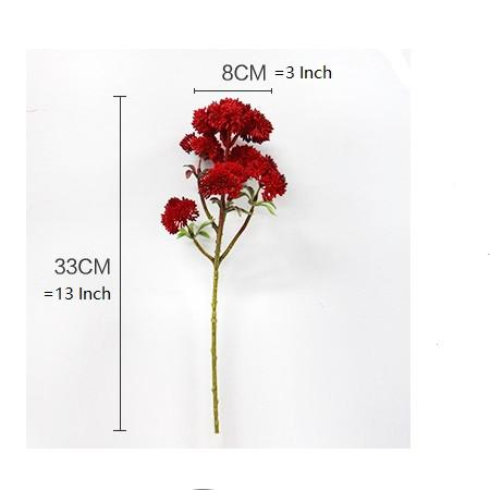 "Artificial Irish Cauliflower Stem in Red 13"" Tall - G Home Collection"