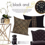 Black And Gold Geometry Pattern Embroidered Pillow 14
