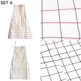 Grid Triangle and Geometry Wave Pattern Apron (Set of 2)