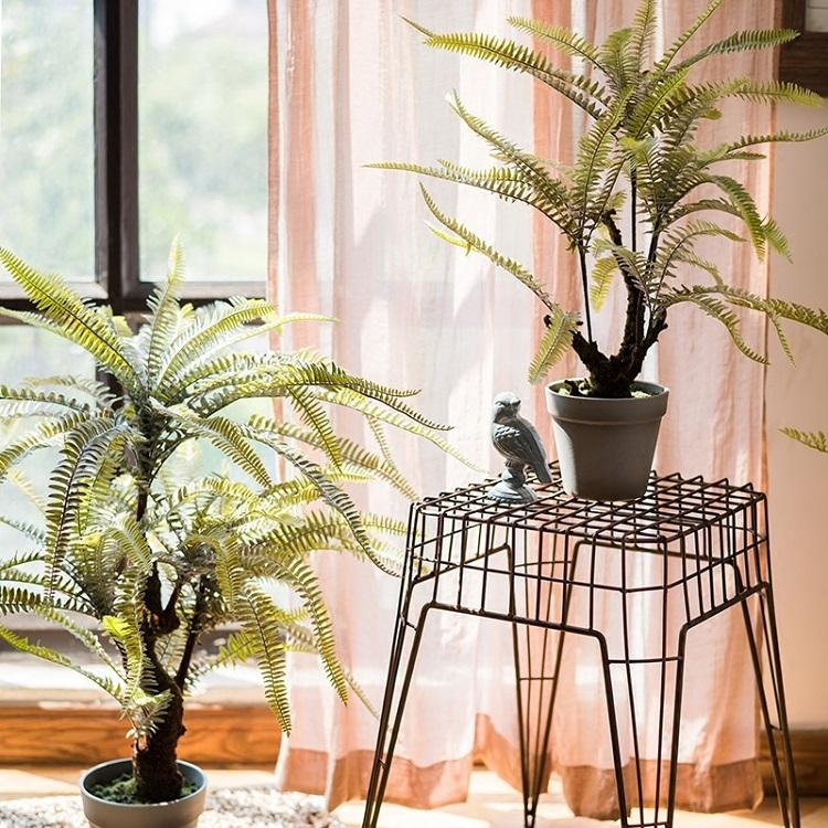 Rustic Artificial Boston Fern Bonsai - G Home Collection