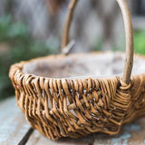 Rustic Handmade Natural Willow Basket with Carry Handle (Set of 3) - G Home Collection