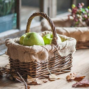 Rustic Linen Fabric Willow Storage Basket (Set of 3)