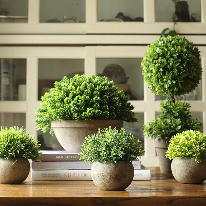 Rustic Artificial Boxwood Topiary in Various Designs - G Home Collection