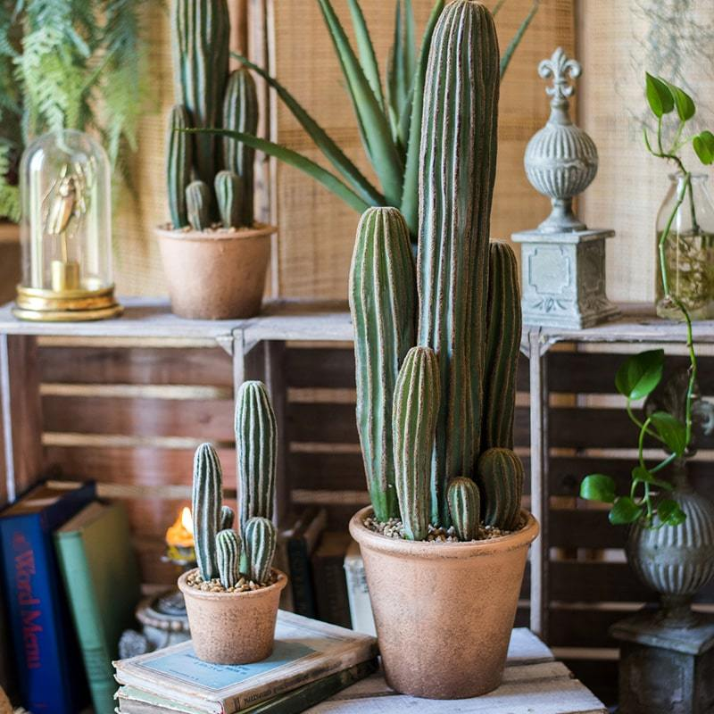 Artificial Cactus in Brown Pot - G Home Collection