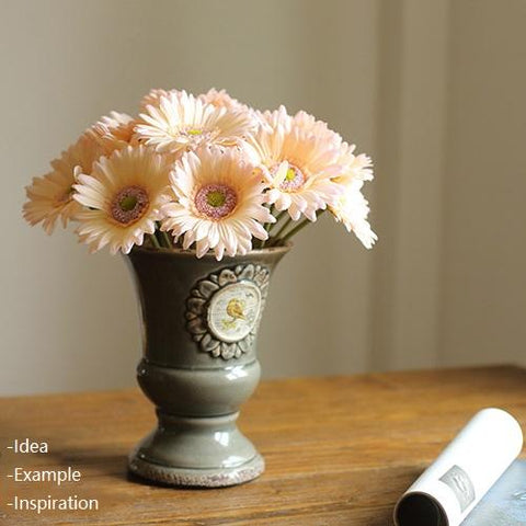 "Rustic Artificial Daisy Bouquet 10"" Tall Set of 3"