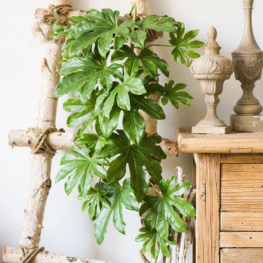 "Rustic Artificial Fatsia Leaf Vines 32"" Long - G Home Collection"