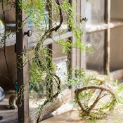 "Rustic Artificial Maidenhair Fern Vines 55"" Long"