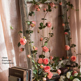 Rustic Artificial Rose Branch Vines in Pink 59