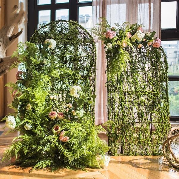 "Rustic Handmade Artificial Flower Screen in Various Designs 40"" Tall"