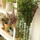 Rustic Artificial Tear Drop Hanging Plant 28