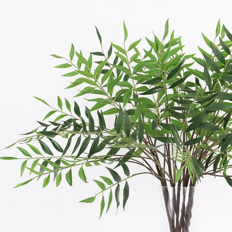 "Artificial Bamboo Leaf Stems 35"" Tall - G Home Collection"