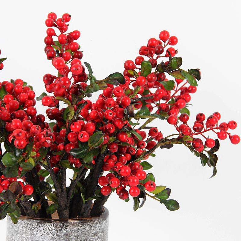 "Artificial Berry Stem in Red 18"" Tall - G Home Collection"