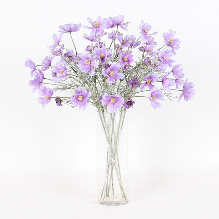 "Silk Cosmos Stem in Light Purple 24"" Tall - G Home Collection"