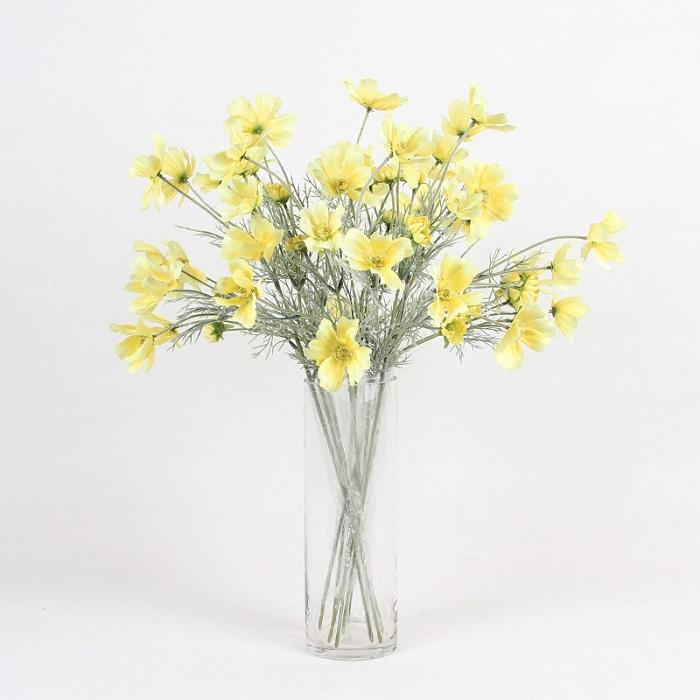 "Silk Cosmos Stem in Yellow 24"" Tall - G Home Collection"
