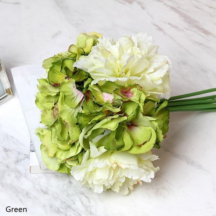 "Silk Hydrangea Peony Bouquet in Various Colors 12"" Tall - G Home Collection"