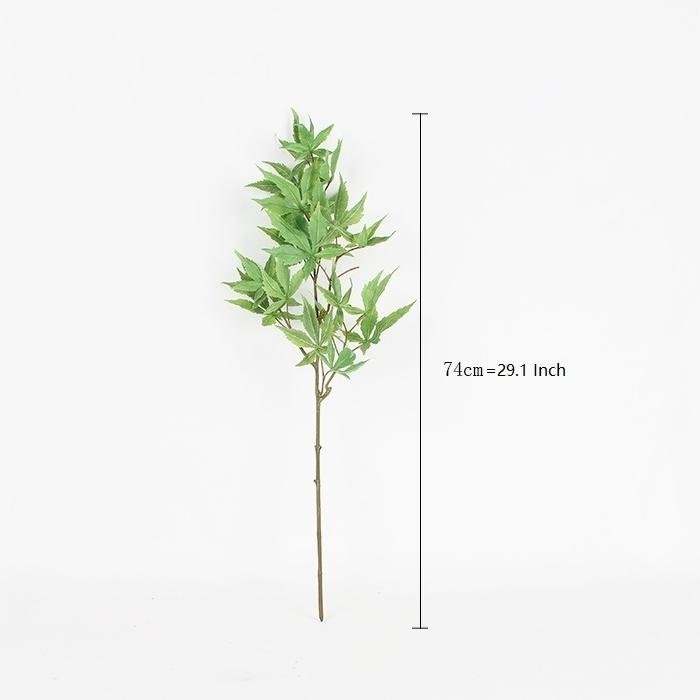 "Artificial Green Maple Leaf Stem 29"" Tall - G Home Collection"