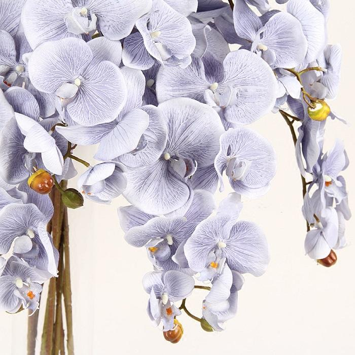 "Silk Butterfly Orchid Stem in Light Purple 37"" Tall - G Home Collection"