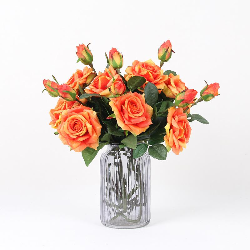"Real Touch Rose Stem in Orange 19"" Tall (Set of 5) - G Home Collection"