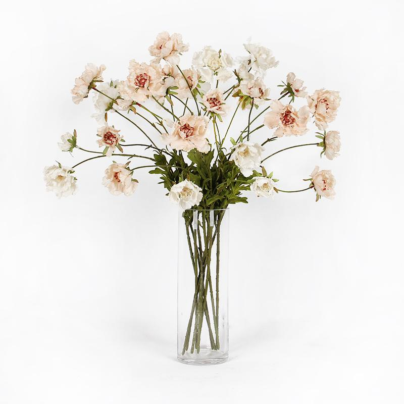"Silk Serrated Petal Cosmos in Light Beige 25"" Tall - G Home Collection"
