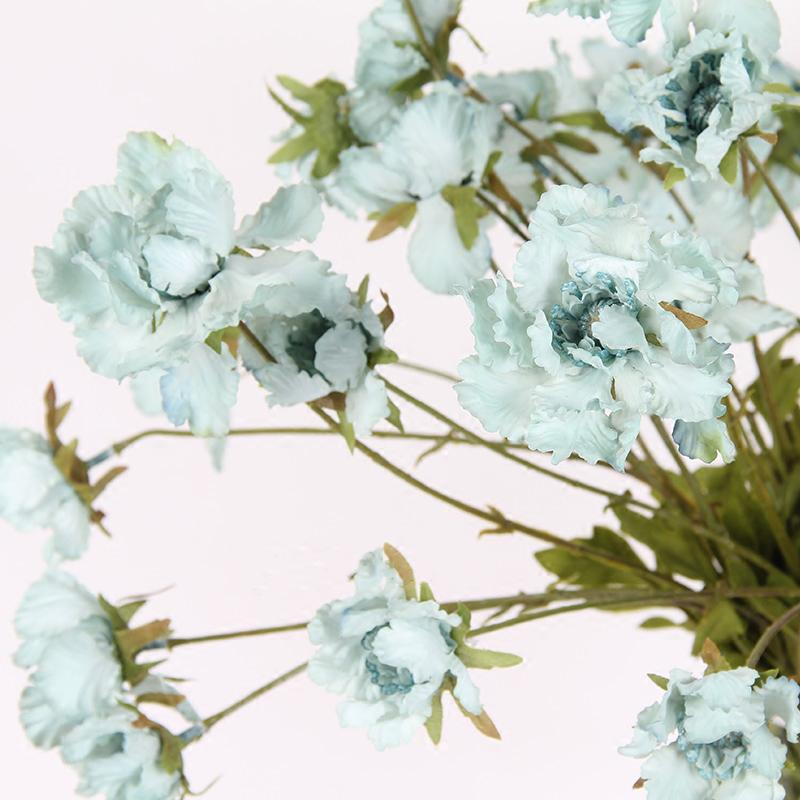 "Silk Serrated Petal Cosmos in Light Blue 25"" Tall - G Home Collection"