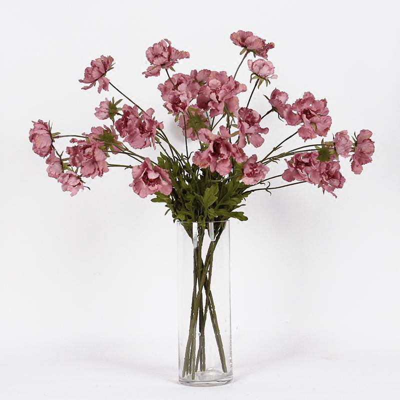 "Silk Serrated Petal Cosmos in Punch Pink 25"" Tall - G Home Collection"