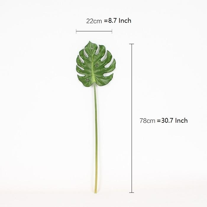 "Artificial Green Turtle Leaf Stem 31"" Tall - G Home Collection"