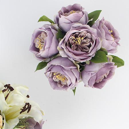 Purple Rose Flower Arrangement - G Home Collection