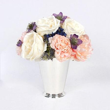 Pink White Rose and Peony Flower Arrangement Tall - G Home Collection