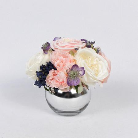 Pink White Rose and Peony Flower Arrangement - G Home Collection