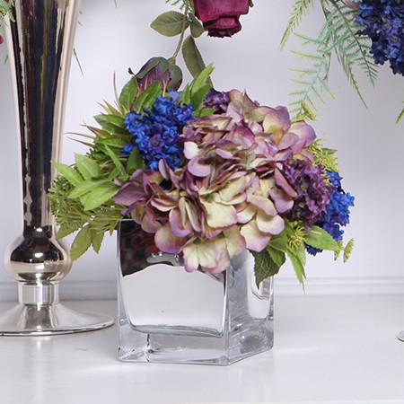Blue Purple Hydrangea Flower Arrangement - G Home Collection