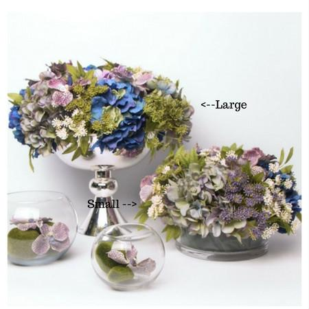 Blue Purple Butterfly Valley Flower Arrangement - G Home Collection
