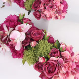 Pink Rose Peony Hydrangea Orchid Flower Arrangement - G Home Collection