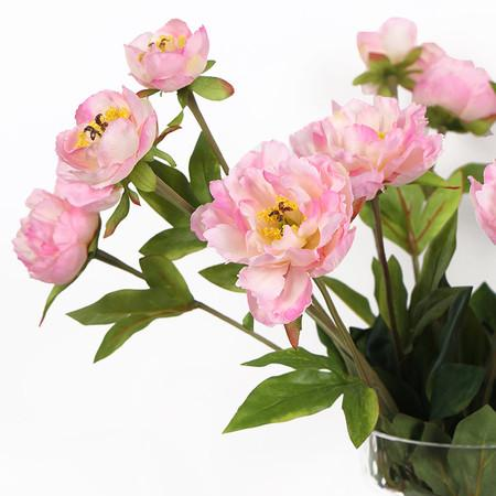 "Silk 3 Princess Peony Bloom Stem in Light Pink 26"" Tall - G Home Collection"