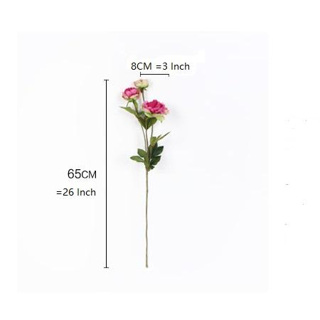 "Silk 3 Princess Peony Bloom Stem in Pink 26"" Tall"