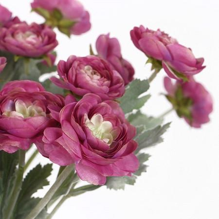 "Silk Ranunculus Asiaticus Stem in Pink and Blue 20"" Tall - G Home Collection"