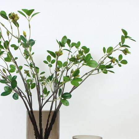 "Artificial Yellow Plum Fruit Stem 35"" Tall"
