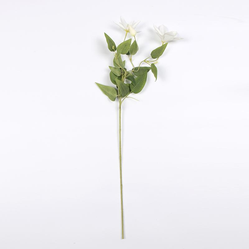 "Silk Clematis Stem in Purple or White 28"" Tall - G Home Collection"