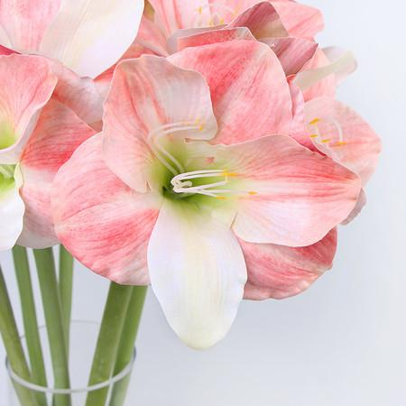 "Clivia Orchid Stem in White Pink 30"" Tall"