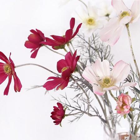 "Silk Cosmos Stem in Light and Dark Pink 24"" Tall - G Home Collection"
