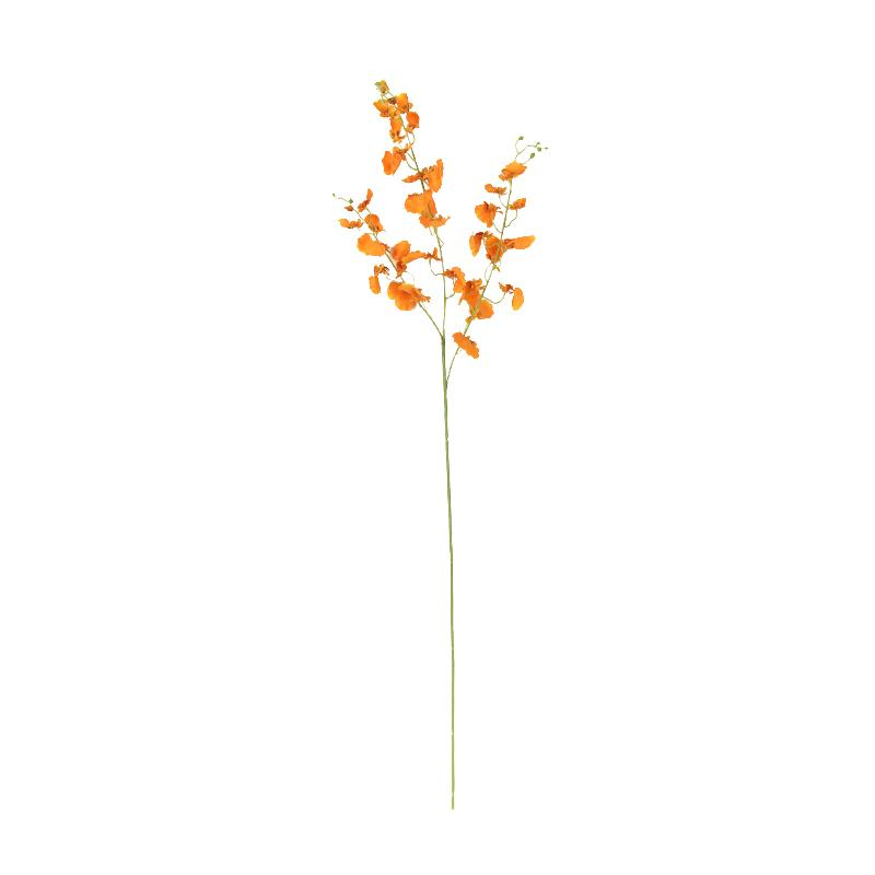 "Silk Dancing Lady Orchid Stem in Orange 38"" Tall - G Home Collection"