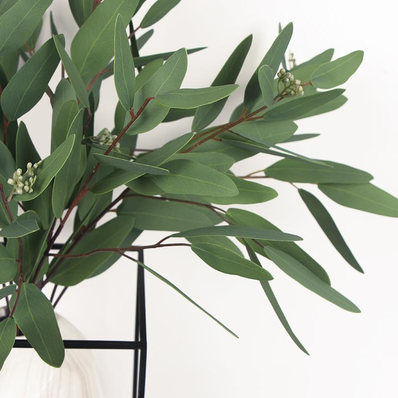 "Artificial Eucalyptus Long Oval Leaf Stem 32"" Tall - G Home Collection"