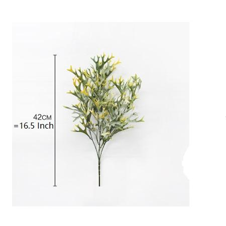 "Artificial Green and Green Yellow Glossogyne Grass Stem 17"" Tall (Set of 2) - G Home Collection"
