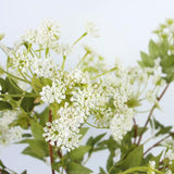 Artificial Lace Flower Stem in White 30